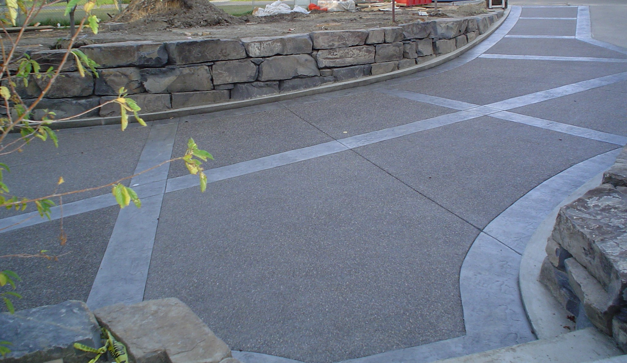 Exposed Aggregate Concrete Driveway