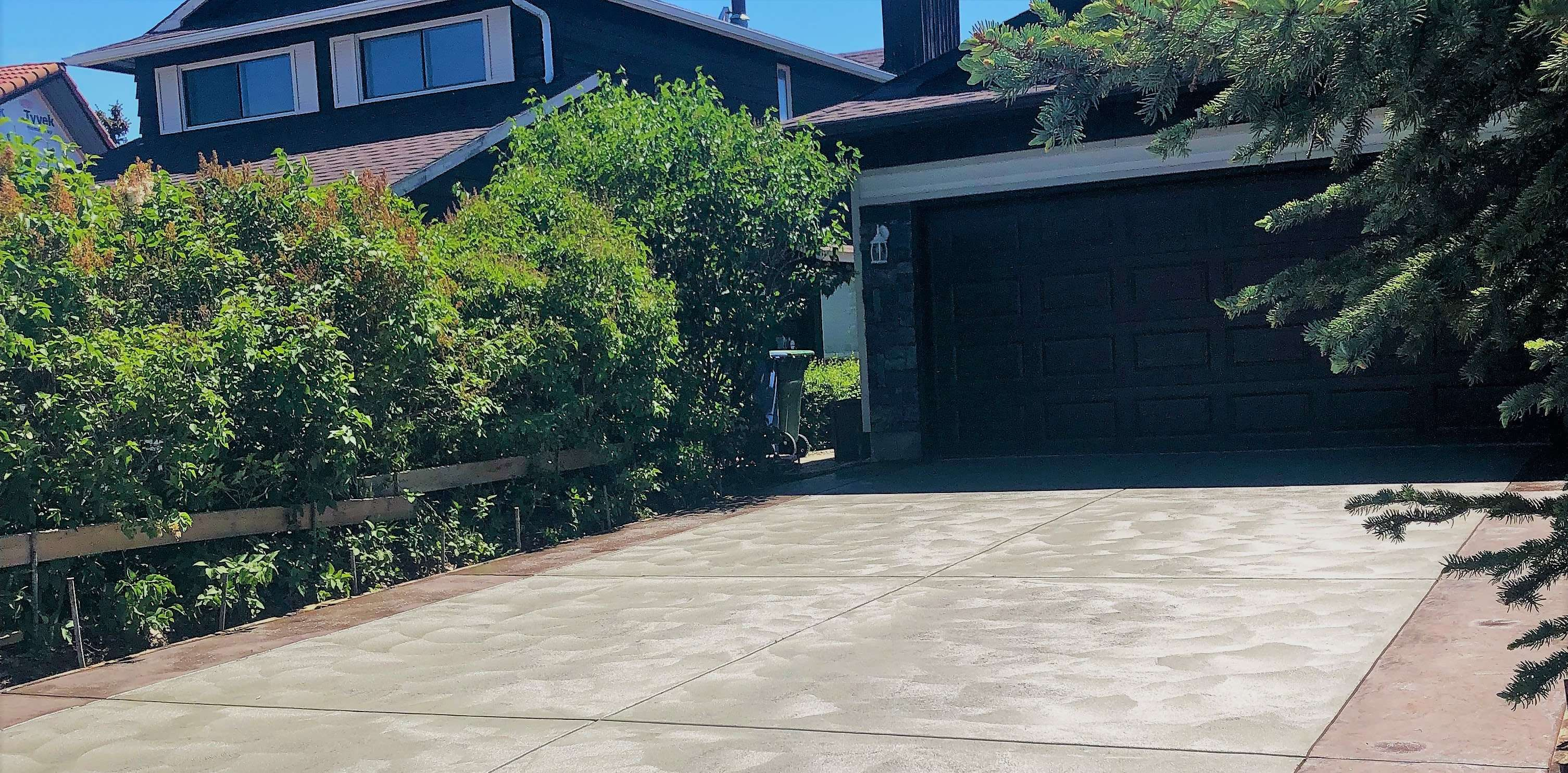 Float Finish Concrete Driveway with Borders
