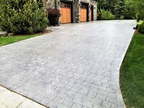 Stamped Concrete Driveway Calgary